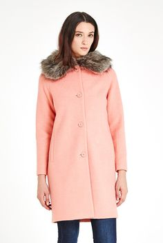 Louche Kamala Fur-Collar Ovoid Coat