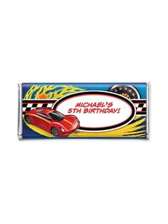 Super Charged Personalized Candy Bar Wrapper   Cheap Super Charged Party Supplies