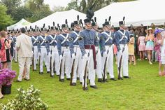 The Citadel's elite military drill platoon, the Summerall Guards (photo courtesy of the North Carolina Azalea Festival)