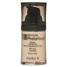 $10.49-Revlon PhotoReady Makeup - Shell   This foundation paired with a kabuki brush has become my new best friend. It has great coverage without being cakey and it stays on all day, especially with a setting spray.