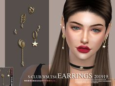 Copper Wing Earrings Found in TSR Category 'Sims 4 Female Earrings' The Sims 4 Pc, Sims 4 Teen, Sims Four, Sims 4 Mm, Sims 4 Mods Clothes, Sims 4 Clothing, Maxis, Los Sims 4 Mods, Sims 4 Stories