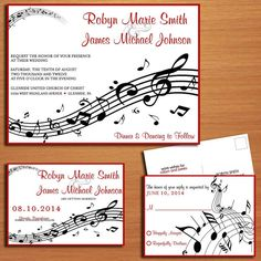 Music Staff Wedding Collection / Invitation / RSVP / Save the