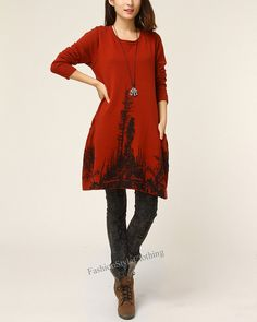 Welcome to my FashionStyleClothing    ★ Material: cotton    ★ Measurements:    FREE SIZE: Bust : 114    Sleeve Length : 60 cm Length : 78 cm