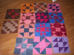 14 Handmade Quilt squares 12x12 by Traincasesandmore on Etsy, $14.00