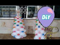 Como fazer Árvore de NATAL de Bexiga - DIY Tree balloon - YouTube