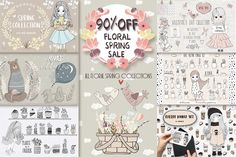 90%OFF!! Floral spring sale. by Natdzho on @creativemarket