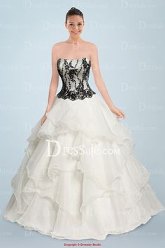 Ravishing Strapless Princess Wedding Gown with Delicate Appliques and Ruffles, Quality Unique Wedding Dresses Bridal Dresses, Wedding Gowns, Batman Wedding, Princess Bridal, Strapless Dress Formal, Formal Dresses, Wedding Bells, Ruffles, Bodice