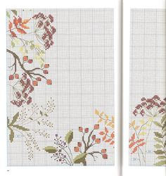 Cross Stitch Borders, Cross Stitch Flowers, Cross Stitch Designs, Cross Stitch Patterns, Butterfly Embroidery, Hand Embroidery, Cross Stitch Kitchen, Needlepoint Patterns, Exotic Flowers