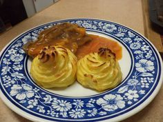 Duchess potatoes, my husband spoilt us very much by making this beautiful potatoes...
