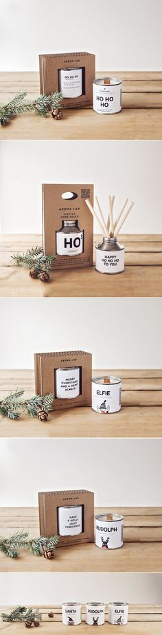 Christmas Gifts from Aroma Lab — The Dieline - Branding & Packaging Design