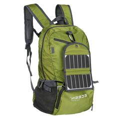 This Green Watt Solar Panel Backpack Smartphone Tablet Battery Charger captures more sunlight than conventional solar panels, which means it generate Solar Panel Charger, Solar Battery Charger, Solar Panel Cost, Solar Energy Panels, Solar Panels For Home, Best Solar Panels, Landscape Arquitecture, Pvc Fabric, Solar Projects