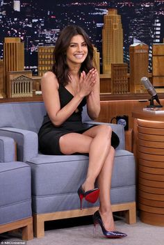 Glam: Priyanka Chopra appeared on the Tonight Show on Thursday...