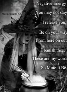 Negative energy banish Wicca pagan cleansing, pagan sayings spells of magic for you spell book and Book of Shadows Wiccan Spell Book, Wiccan Witch, Magick Spells, Wicca Witchcraft, Wiccan Spells Love, White Witch Spells, Luck Spells, Protection Spells, Book Of Shadows