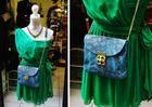 Niebieska torebka skórzana Etui-Vintage. Fashion - leather handbag