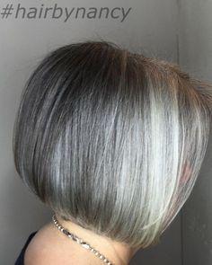 60 Gorgeous Gray Hair Styles Gray Bob With Platinum Highlights Grey Wig, Short Grey Hair, Short Hair Cuts, Short Hair Styles, Box Braids Hairstyles, Short Bob Hairstyles, Gray Hairstyles, Gorgeous Hairstyles, Hairstyle Ideas