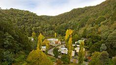 Aerial view of Walhalla, Gippsland, Victoria, Australia