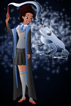 Tiana as ravenclaw disney hogwarts, disney nerd, disney girls, disney fun, walt Disney Pixar, Disney Fan Art, Disney And Dreamworks, Disney Love, Disney Magic, Walt Disney, Disney Characters, Disney Princesses, Twisted Princesses