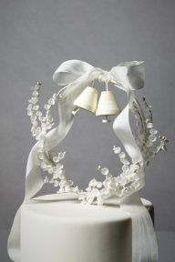 lily of the valley cake topper