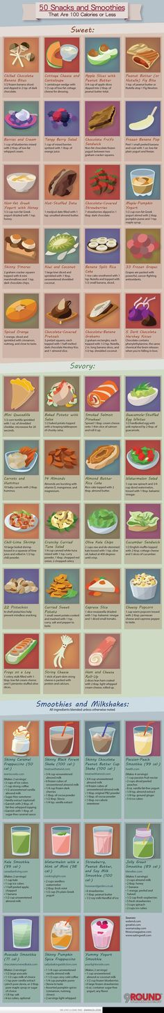 39 Healthy Snacks And 11 Smoothies Under 100 Calories