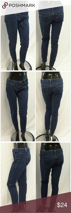 "40% BUNDLE DISCOUNT! FREE SHIPPING ON BUNDLES!! CELEBRITY PINK, Skinny Denim Jeans, size 5 See Measurements, low rise, skinny ankles, darker shade of Medium wash, mediumweight stretchy soft denim material, machine washable, 79% cotton, 19% polyester, 2% spandex, approximate measurements: 15"" waist laying flat, 30"" inseam, 2.5"" zipper, 7"" rise.  ADD TO A BUNDLE!?? 40% BUNDLE DISCOUNT! FREE SHIPPING ON BUNDLES!! ?OFFER? 40% less Plus $6 LESS ON BUNDLES! Celebrity Pink Jeans"
