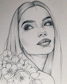 Papier Canson Moulin du Roy 300 g Bleistift Pentel Orenz ____________________ - Kunst Bilder - ski Pencil Art Drawings, Art Drawings Sketches, Tattoo Sketches, Portrait Sketches, Easy Sketches To Draw, Drawing With Pencil, Drawings Of Faces, Sketches Of Girls, Cute Drawings Of Girls