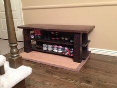 Custom Made Genkan Bench / Entryway Bench In White Oak And Fir