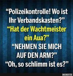 Polizeikontrolle.. | Lustige Bilder, Sprüche, Witze, echt lustig