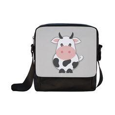 Cute Cow Crossbody Nylon Bags (Model 1633)