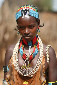 Ethiopia - Unknown: A Young Female Tribal Member