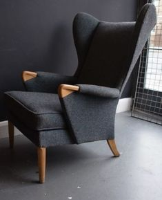 Vintage-1960s-wingback-Parker-Knoll-armchair