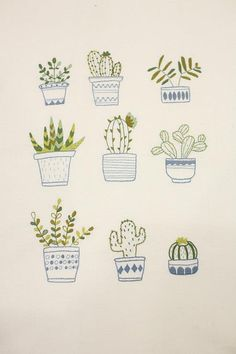 embroidery wall art / hoop art / handmade cross stitch / needlework / home decor / flower plant / botanical print / illustrations / herbarium Japanese Embroidery, Modern Embroidery, Diy Embroidery, Cross Stitch Embroidery, Embroidery Patterns, Embroidery Techniques, Embroidered Flowers, Needlepoint, Needlework