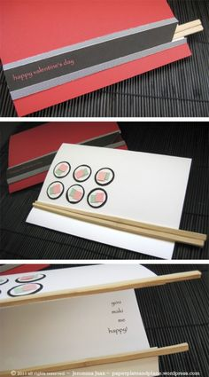 A Card For a Sushi Date Night! Can't wait to make this!