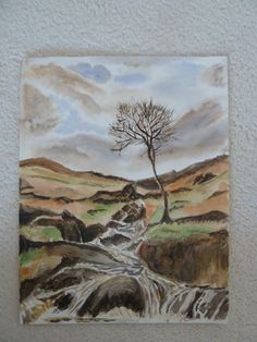 Painting: watercolour stream