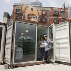 Pop up shop in a shipping container - love it!