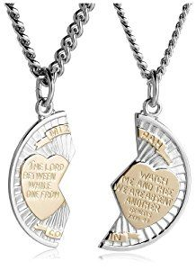 """Sterling Silver and Stainless Steel Mizpah Medal Necklace, 20"""" and 24""""  http://electmejewellery.com/jewelry/sterling-silver-and-stainless-steel-mizpah-medal-necklace-20-and-24-com/"""