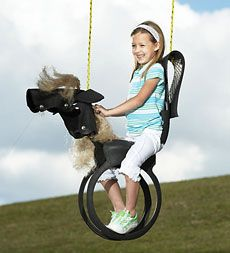 """Love the idea of a """"horse"""" swing to ride  Outdoor Play Toys: Outdoor Toys, Backyard Toys - HearthSong"""