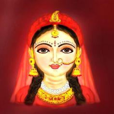 Radha Rani, Krishna Radha, Indian Gods, Indian Art, Kids Makeup, Halloween Face Makeup, Pencil Sketching, Princess Zelda, Acrylic Paintings