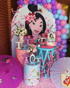 Princess Birthday Party Decorations, Disney Princess Party, Party Themes, Birthday Parties, Disney Birthday, Girl Birthday, Princesse Party, Deco Ballon, Balloon Decorations
