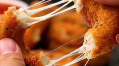 aneis de cebola com queijo