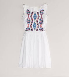 A fun dress with sandals is great for the more casual recruitment events.