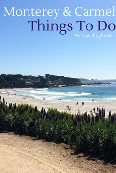 The top things to do around the Monterey Bay from Pacific Grove to Carmel. What to eat, where to drink and great activities.