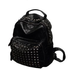 ec89b914e3cc 2015 Fashion High Quality Designer Leather Women Rivet Backpack on  Made-in-China.