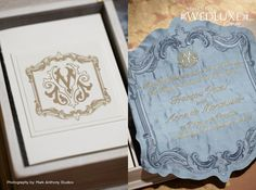 WedLuxe Magazine ~  Silk Embroidered Invitations