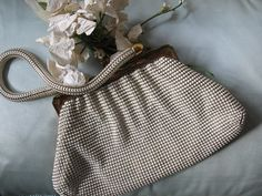 Whiting Davis Purse 1930's Vintage Retro by WhenRosesBloomShop