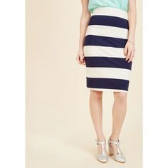 The Type for Stripes Pencil Skirt ($30) ❤ liked on Polyvore featuring skirts, apparel, bottoms, pencil skirt, varies, pink skirt, striped skirt, stripe pencil skirt, knee length pencil skirt and stripe skirt