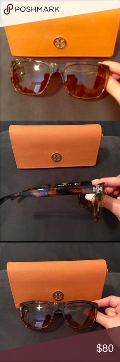 Tory Burch sunglasses Brown tortoise, excellent condition Tory Burch Accessories Glasses