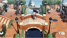 Animal Crossing 3ds, Animal Crossing Wild World, Animal Games, My Animal, Motif Acnl, Shopping Street, Folk, Island Design, Paths