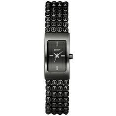 $83.50 DKNY Black Glitz Black Dial Women's watch #NY8046