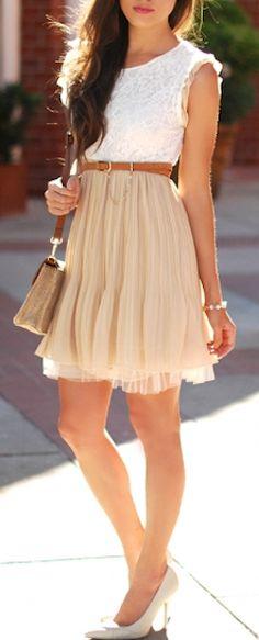 lace chiffon pleated dress http://rstyle.me/n/h7ak5r9te