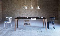 DECAPO Tavolo allungabile da pranzo rettangolare in alluminio by Miniforms
